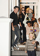 26.SEPT.2011 LONDON<br /> <br /> ANGELINA JOLIE LEAVING GWEN STEFANI'S HOUSE IN PRIMROSE HILL AT 8.30PM WITH GWEN'S SON KINGSTON SAYING BYE AT THE DOOR AFTER SPENDING THE AFTERNOON AND EVENING THEIR WITH KIDS ZAHARA, SHILOH NOUVEL, KNOX LEON AND VIVIENNE MARCHELINE.<br /> <br /> BYLINE: EDBIMAGEARCHIVE.COM<br /> <br /> *THIS IMAGE IS STRICTLY FOR UK NEWSPAPERS AND MAGAZINES ONLY*<br /> *FOR WORLD WIDE SALES AND WEB USE PLEASE CONTACT EDBIMAGEARCHIVE - 0208 954 5968*