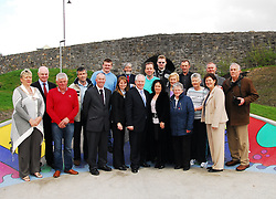 Pictured at the opening of the Greenway Skatepark were Westport Tidy Towns Committee members with Minister of State for Tourism & Sport Michael Ring Westport Town Council officials and the contractors Spraoi Linn...Pic Conor McKeown