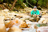 Fly fishing for Brook Trout in the Blue Ridge Mountains.