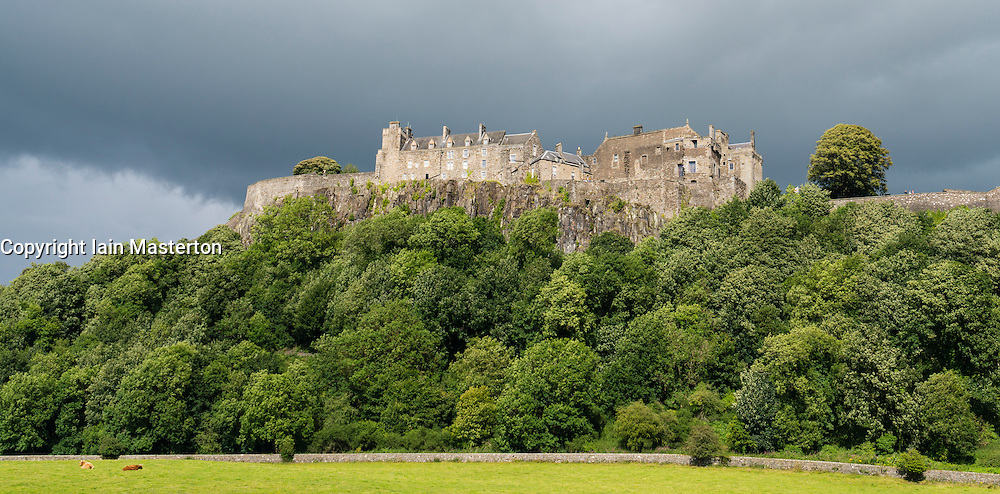 View of historic Stirling Castle in Stirlingshire, Scotland, UK