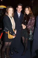 """Left to right, ARABELLA MUSGRAVE, the HON.JAMES TOLLEMACHE and AMANDA SHEPPARD  at a party to celebrate the opening of the new Mont Blanc store at 151 Sloane Street, London on 9th March 2005.  The evening was held in conjunction with UNICEF's """"Sign up for the right to write"""" campaign which is raising money though the sale of celebraties 'statements' currently for auction on the ebay website.<br /><br />NON EXCLUSIVE - WORLD RIGHTS"""