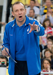Head coach of Dinamo Yury Cherednik at 1st Semifinal match of CEV Indesit Champions League FINAL FOUR tournament between PGE Skra Belchatow, Poland and Dinamo Moscow, Russia, on May 1, 2010, at Arena Atlas, Lodz, Poland. (Photo by Vid Ponikvar / Sportida)