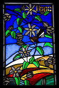 Hope, Stain Glass Window, New Zealand<br /> <br /> NOT FOR SALE, as this is merely a full-frame photograph of another's artwork