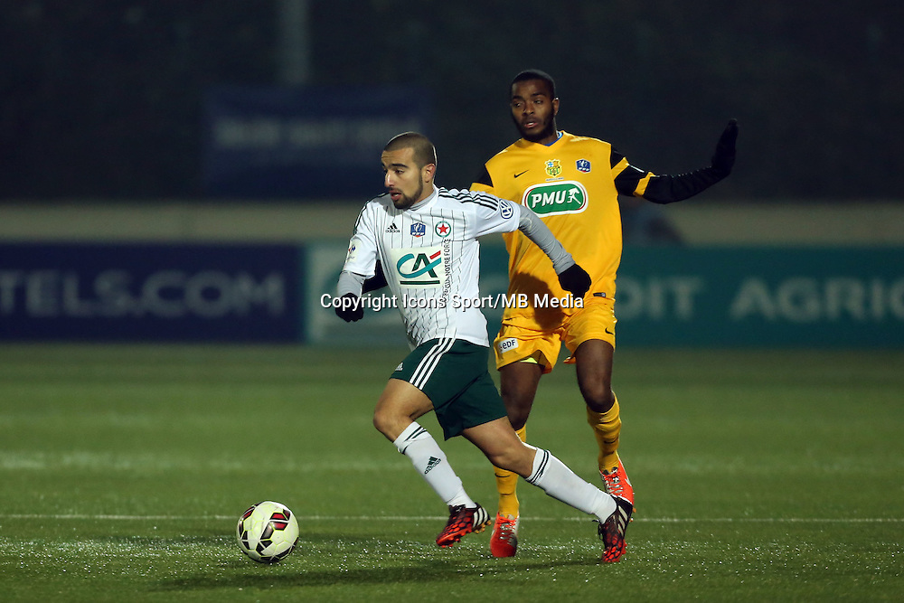 Naim SLITI - 23.01.2015 - Red Star / Marseille Consolat - Coupe de France<br /> Photo : Sebastien Muylaert / Icon Sport