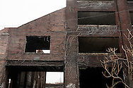 Cleveland, Ohio - An abandoned factory in the outskirts of the city of Cleveland in Ohio.