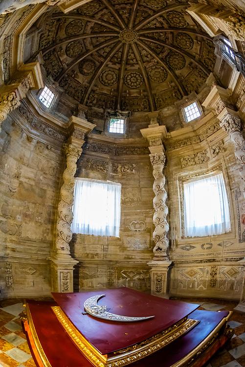 The Church and Convent of N. S. Del Carmen, Alhama de Granada,Granada Province, Andalusia, Spain.
