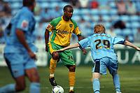 Photo: Rich Eaton.<br /> <br /> Coventry City v Norwich City. Coca Cola Championship. 09/09/2006. No way through for Norwich player Jurgen Colin #24