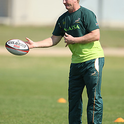 PORT ELIZABETH, SOUTH AFRICA - AUGUST 18, Dick Muir assistant coach during the South African national rugby team training session and press conference at Nelson Mandela Bay Stadium on August 18, 2011 in Port Elizabeth, South Africa<br /> Photo by Steve Haag / Gallo Images