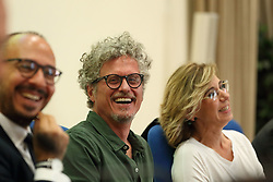 May 24, 2017 - Roma, RM, Italy - Italian songwriter Niccolò Fabi.during the Press conference at the Ministry of Health to present the new and innovative app for the first child-friendly aid promoted and conceived by the Fondazione onlus ''Parole di Lulù''. Presented by Alberto Villani, President of the Italian Society of Pediatrics (SIP), Shirin Amini, President of the Fondazione ''Parole di Lulù'', Davide Faraone, Undersecretary of Health, and Italian songwriter Niccolò Fabi (Credit Image: © Matteo Nardone/Pacific Press via ZUMA Wire)