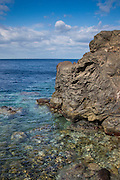 Aegean Sea, off Ammoudi Bay, Santorini, Greece.