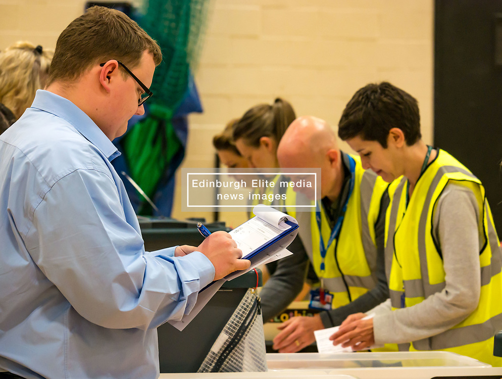 Pictured:  Lachlan Bruce, Conservative Councillor at Haddington & Lammermuir by-election count. Haddington, East Lothian, Scotland, United Kingdom, 10 May 2019. The election takes place of one councillor in Ward 5 of East Lothian Council due to the resignation of Councillor Brian Small. The successful candidate represents this ward along with the three existing councillors. The by-election uses the Single Transferable Vote (STV) system in which voters can rank candidates in order of preference and can choose to vote for as many or as few candidates as they like. The election fields 5 candidates from Scottish National Party (SNP), Scottish Labour Party, Scottish Conservatives and Unionist Party, Scottish Liberal Democrats and UK Independence Party (UKIP).<br /> The candidate elected is XX.<br /> Sally Anderson | EdinburghElitemedia.co.uk
