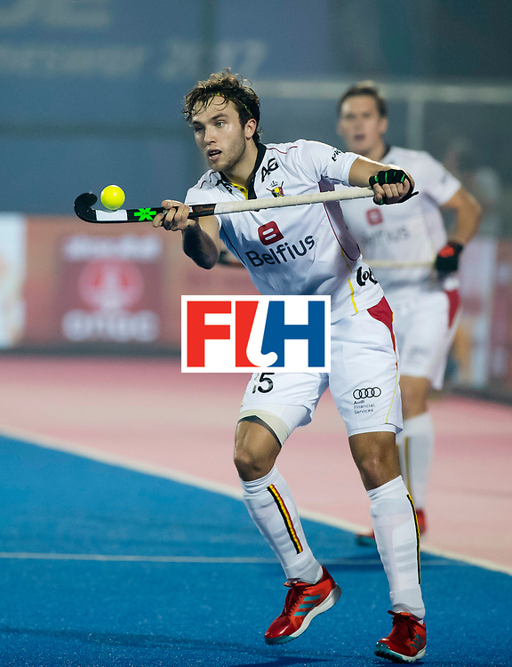 BHUBANESWAR - Manu Stockbroekx (Bel)  tijdens de Hockey World League Final wedstrijd Belgie-Nederland (3-0).   COPYRIGHT KOEN SUYK