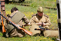 Bowes Railway Springwell Village 1940s weekend Preparing for Battle<br /> <br />  Copyright Paul David Drabble<br />  30 June 2019<br />  www.pauldaviddrabble.co.uk