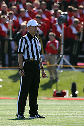 22 October 2011: Referee Mark Kluczynski during an NCAA football game  the Indiana State Sycamores lost to the Illinois State Redbirds (ISU) 17-14 at Hancock Stadium in Normal Illinois.