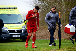 DERBY, ENGLAND - Friday, March 8, 2019: Liverpool's Alex Oxlade-Chamberlain walks off after being substituted during the FA Premier League 2 Division 1 match between Derby County FC Under-23's and Liverpool FC Under-23's at the Derby County FC Training Centre. (Pic by David Rawcliffe/Propaganda)