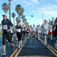 Athletes run south on Barnard Way during the Sixth Annual Santa Monica Classic 5K/10K on Sunday, May 15, 2011. More than 4,000 people will participated in the Santa Monica Classic which raised money and awareness for Heal the Bay, an organization that keeps coastal waters safe and clean in Southern California......
