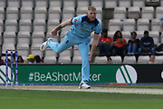 Ben stokes bowling during the ICC Cricket World Cup 2019 warm up match between England and Australia at the Ageas Bowl, Southampton, United Kingdom on 25 May 2019.