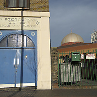 Fieldgate Street, Synagogue, one of London East End oldest synagogues, and East London mosque