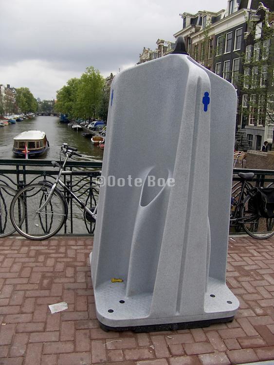 a public urinal in Amsterdam