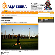 "Screengrab of ""Why we run"" published in Al Jazeera English"
