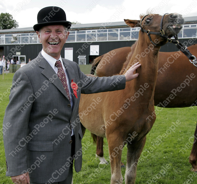 Pat Gleeson was delighted with his choice for Champion Foal at the County Show in Ennis at the weekend.<br />