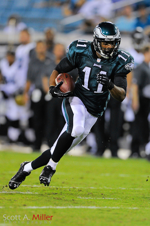 Philadelphia Eagles wide receiver Russell Shepard (11) during a preseason NFL game against the Jacksonville Jaguars at EverBank Field on Aug. 24, 2013 in Jacksonville, Florida. The Eagles won 31-24.<br /> <br /> &copy;2013 Scott A. Miller