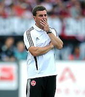 FUSSBALL   1. BUNDESLIGA  SAISON 2011/2012   2. Spieltag 1 FC Nuernberg - Hannover 96          13.08.2011 Trainer Dieter Hecking (1 FC Nuernberg)