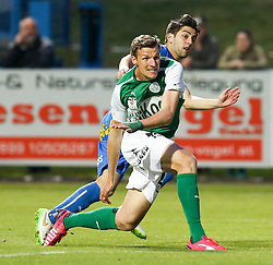 15.05.2015, Sportplatz FAC, Wien, AUT, 2. FBL, Floridsdorfer AC vs SV Mattersburg, 34. Runde, im Bild Alois Höller (SV Mattersburg) und Martin Demic (Floridsorfer AC) // during Austrian Football Second Bundesliga Match, 34th round, between Floridsdorfer AC and SV Mattersburg at the Sportplatz FAC, Vienna, Austria on 2015/05/15. EXPA Pictures © 2015, PhotoCredit: EXPA/ Alexander Forst