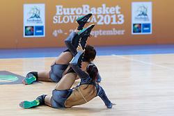04.09.2013, Arena Bonifka, Koper, SLO, Eurobasket EM 2013, Schweden vs Griechenland, im Bild Cheerleaders Kazina // during Eurobasket EM 2013 match between Sweden and Greece at Arena Bonifka in Koper, Slowenia on 2013/09/04. EXPA Pictures © 2013, PhotoCredit: EXPA/ Sportida/ Matic Klansek Velej<br /> <br /> ***** ATTENTION - OUT OF SLO *****