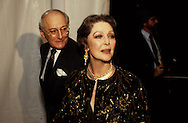 Loretta Young arriving at a 2oth Century Fox Dinner for the Queen during the visit of Queen Elizabeth II to California in March 1983...Photograph by Dennis Brack bb23