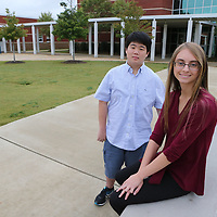 Tupelo High School students Aaron Kwag, left, and Katilyn Grimes were selected as National Merit Semifinalist.