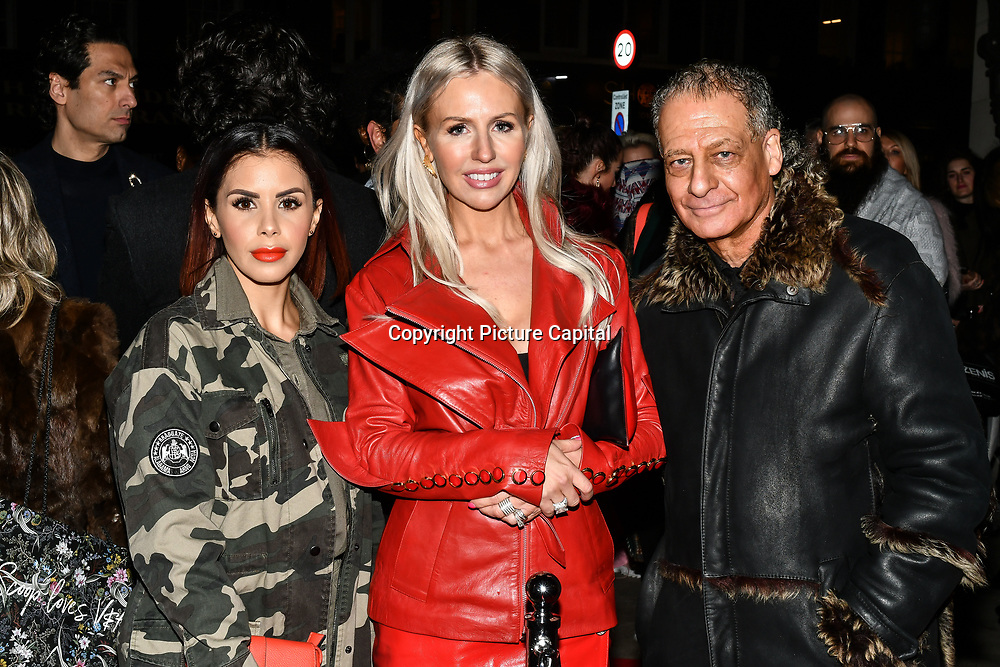Shanie Ryan,Naomi Isted and Alan Enfield attend Fashion Scout LFW AW19 Day 1 at Freemasons' Hall, London, UK. 15 Feb 2019
