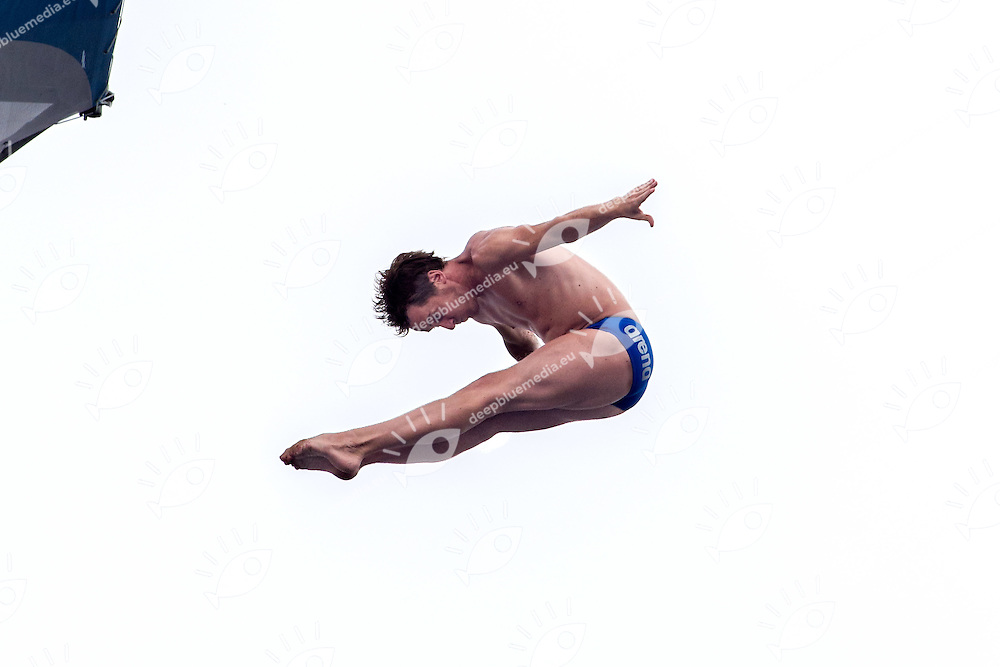 HUNT Gary GBR<br /> Men s' Qualification<br /> FINA High Diving World Cup 2014<br /> Kazan Tatartsan Russsia RUS Aug. 8 to 10 2014<br /> Kazanka River  Day01 - Aug.8 <br /> Photo G. Scala/Deepbluemedia