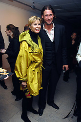 VICTORIA, LADY DE ROTHSCHILD and her son DAVID DE ROTHSCHILD at the launch of Ecuador: Block 16 a partnership between IWC watches and David De Rothschild held at The Hospital, Endell Street, Covent Garen, London on 8th October 2007.<br />
