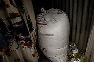 Sack of food aid (wheat) distributed by USAID ends up in a small shop for sale in Lalibela in the Ethiopian Highlands.  The aid was provided to prevent a potential famine because the worst drought in decades has given way to heavier than normal rains which aid groups fear might jeopardize this year's crops.  USAID has designated this part of the Ethiopian Highlands as at high to extreme risk of food insecurity.