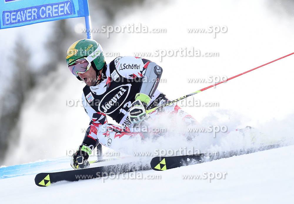 06.12.2015, Birds of Prey Course, Beaver Creek, USA, FIS Weltcup Ski Alpin, Beaver Creek, Riesenslalom, Herren, 1. Lauf, im Bild Philipp Schoerghofer (AUT) // Philipp Schoerghofer of Austria during the first run of mens Giant Slalom of the Beaver Creek FIS Ski Alpine World Cup at the Birds of Prey Course in Beaver Creek, United States on 2015/12/06. EXPA Pictures © 2015, PhotoCredit: EXPA/ Erich Spiess