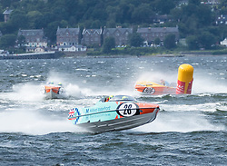 The P1 Scottish Grand Prix of the Sea is the second of four events across the UK for the P1 Powerboat Championship taking place at Greenock.<br /> <br /> Pictured: <br /> Pictured: Milford Waterfront Pembrokeshire Panther team