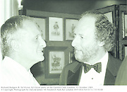 Richard Rodgers &  Ed Victor. Ed Victor party at the Garrick Club. London. 31 October 1989<br />