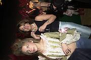 Skye McAlpine and Petronella Wyatt. Lady McAlpine & Vivienne Westwood exhibition. Museum of London. 6 April 2000<br />© Copyright Photograph by Dafydd Jones 66 Stockwell Park Rd. London SW9 0DA Tel 0171 733 0108 www.dafjones.com