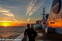 MV Explorer Sunrise at Sea