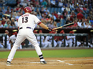 May. 7, 2012; Phoenix, AZ, USA; Arizona Diamondbacks outfielder Jason Kubel (13) during the game against the St. Louis Cardinals at Chase Field.  The Cardinals defeated the Diamondbacks 9-6.  Mandatory Credit: Jennifer Stewart-US PRESSWIRE