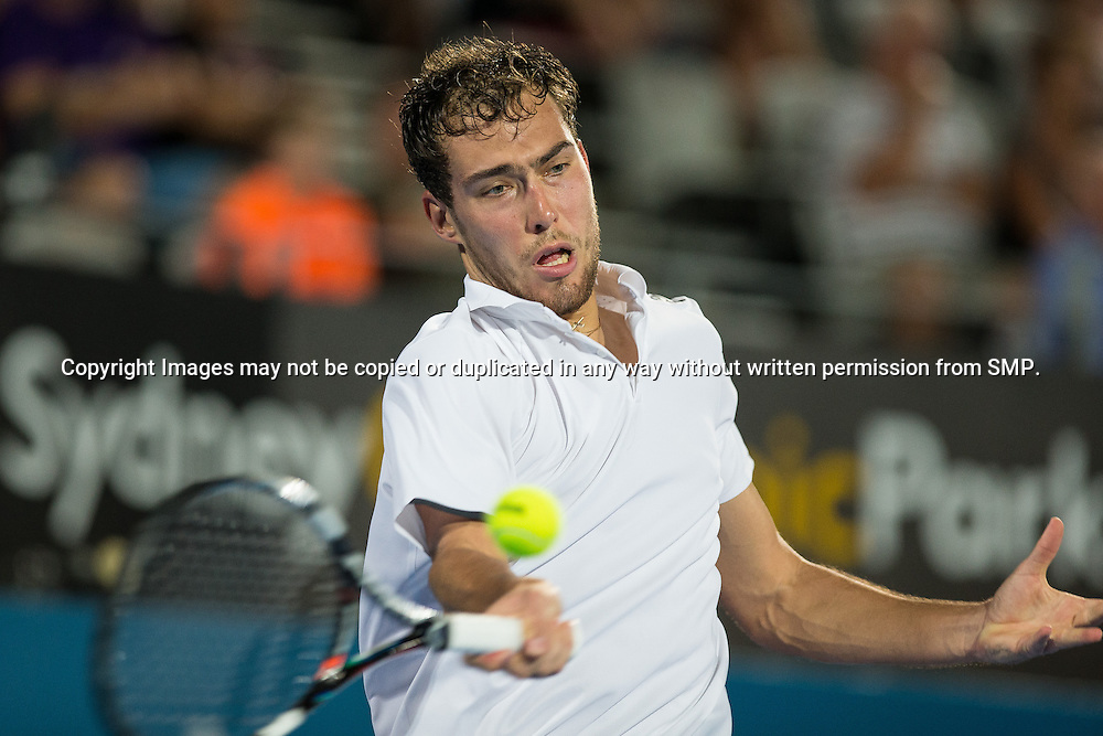 JERZY JANOWICZ (POL) during Day 3 of the 2015 Apia Sydney International played at Sydney Olympic Park Tennis Centre, Sydney, Australia, Tuesday, 13 Jan 2015. Photo: Murray Wilkinson (SMP Images).