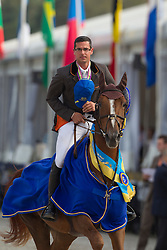 Vanderhasselt Yves (BEL) - Gladys<br /> FEI World Championship Young Jumping Horses - Lanaken 2011<br /> © Dirk Caremans