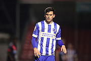 U21 Brighton and Hove Albion's Jack Harper during the Barclays U21 Premier League match between U21 Brighton and Hove Albion and U21 Newcastle United at the Checkatrade.com Stadium, Crawley, England on 23 March 2016.
