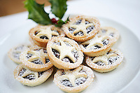 Mince pies close up