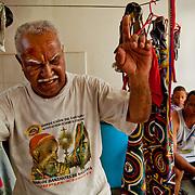 """DANCING DEVILS OF NAIGUATA / DIABLOS DANZANTES DE NAIGUATA<br /> Photography by Aaron Sosa<br /> Roberto Izaguirre """"Robin""""<br /> Diablo Mayor<br /> Naiguata, Vargas State - Venezuela 2010.<br /> (Copyright © Aaron Sosa)"""