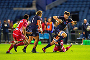 Ally Miller (#6) of Edinburgh Rugby bursts forward during the Guinness Pro 14 2019_20 match between Edinburgh Rugby and Scarlets at BT Murrayfield Stadium, Edinburgh, Scotland on 26 October 2019.