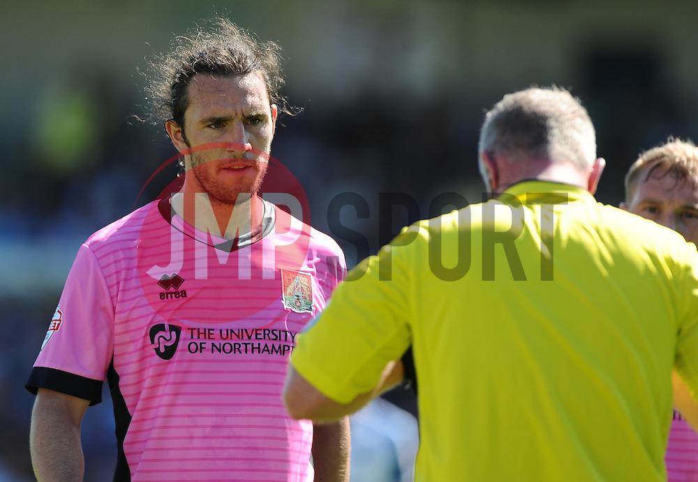 John-Joe O'Toole of Northampton Town  - Mandatory byline: Joe Meredith/JMP - 07966386802 - 08/08/2015 - FOOTBALL - Memorial Stadium -Bristol,England - Bristol Rovers v Northampton Town - Sky Bet League Two