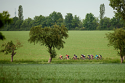 The break of the day on lap one at Lotto Thüringen Ladies Tour 2019 - Stage 1, a 98.4 km road race in Gera, Germany on May 28, 2019. Photo by Sean Robinson/velofocus.com