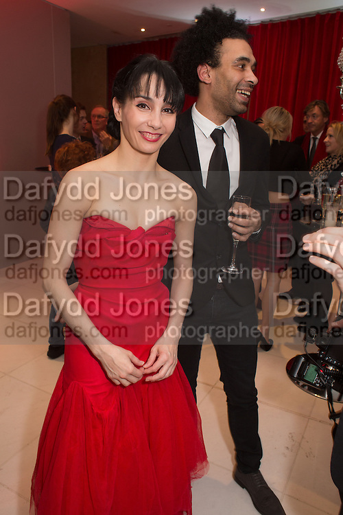 TAMARA ROJO; DAVID WATSON, Pre -drinks at the St. Martin's Lane Hotel before a performance of the English National Ballet's Nutcracker: London Coliseum.12 December 2013